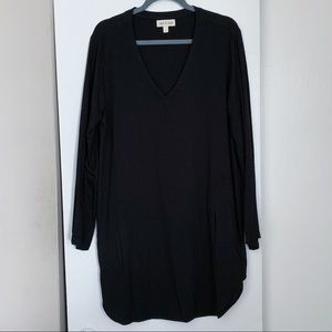 Anthropologie Cloth & Stone Black Shirt Dress